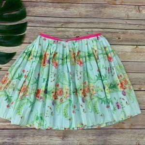 Baker by Ted Baker girl's floral pleated skirt